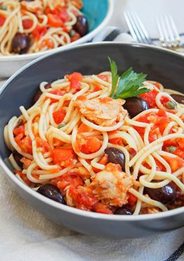 Spaghetti Tomate, Thon, Câpres
